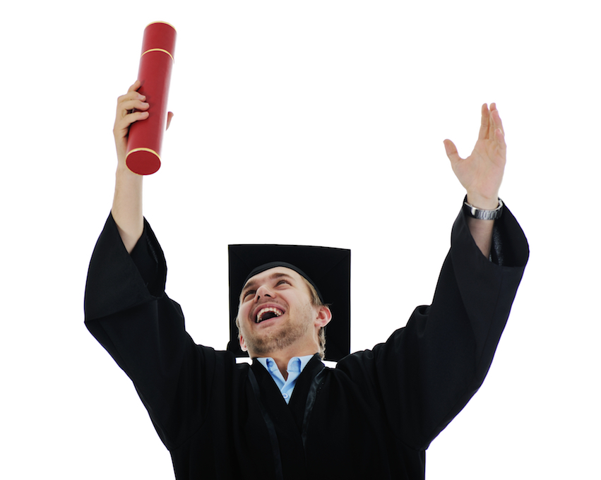 young graduate student holding a diploma isolated with copy space HY3laz0TBo